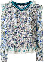 Diesel floral print blouse - women - Cotton/Polyester/Metallic Fibre - XS