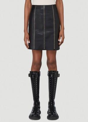 Alexander McQueen Staple-Embellished Mini Skirt