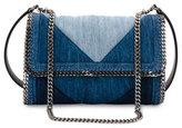 Stella McCartney Patchwork Denim Shoulder Bag, Blue
