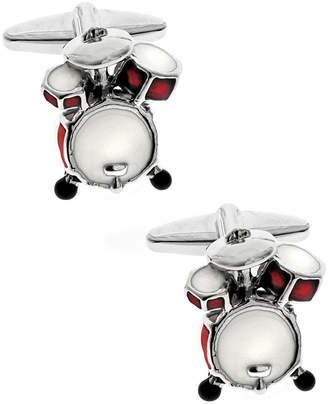 Sutton Silver-Tone Drum Set Cufflinks