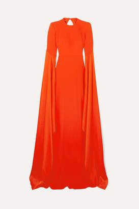 Alex Perry Abigail Open-back Crepe Gown - Tomato red