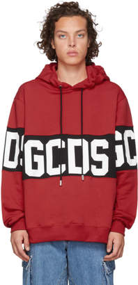 GCDS Red Logo Hoodie
