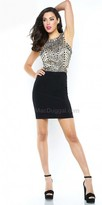 Mac Duggal Jewel Encrusted Fitted Cocktail Dress
