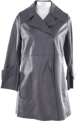 Dorothee Schumacher Grey Leather Jacket for Women