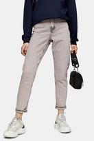 Topshop Pink Acid Mom Tapered Jeans
