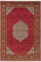"Ecarpetgallery Hand-knotted Peshawar Ziegler Medallion Corners 4'2"" x 6'0"" 100% Wool area rug"