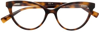 Max Mara Tortoiseshell Cat-Eye Frame Glasses