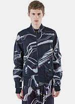 Y-3 Men's Airmesh Lightning Print Ma-1 Jacket In Black