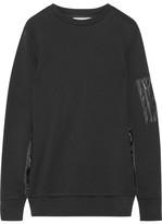 Tim Coppens Shell-paneled Cotton-jersey Sweatshirt - Black