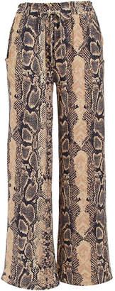 Derek Heart Women's Casual Pants SAND - Sand Snake Paper Bag Palazzo Pants - Juniors