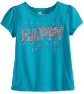 Epic Threads Mix and Match Happy Graphic-Print T-Shirt, Toddler Girls (2T-4T) & Little Girls (2-6X), Only at Macy's