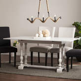 Southern Enterprises Wooden Door Kitchen Folding Trestle Console to Dining Table
