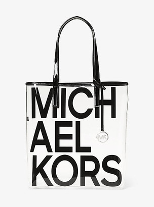 Michael Kors The Michael Large Graphic Logo Print Clear Tote Bag