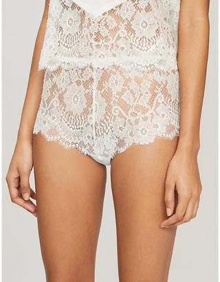 Selfridges Sophia floral-lace shorts