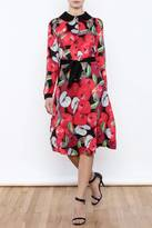Moon Collection Long Sleeve Floral Dress