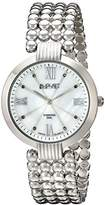 August Steiner Women's AS8065RG Diamond Mother-Of-Pearl Swiss Quartz Bracelet Watch