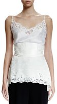 Givenchy Small Weave Lace-Trim Camisole, Ivory