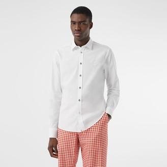 Burberry Monogram Motif Stretch Cotton Popin Shirt