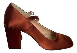 Jonak Brown Cloth Sandals