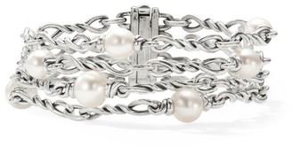 David Yurman Continuance Chain & Pearl Bracelet
