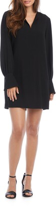Karen Kane Cuff Detail Long Sleeve Shift Dress