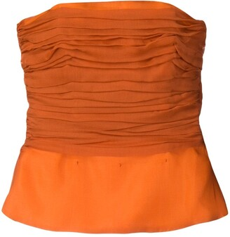 Yves Saint Laurent Pre Owned 1980's Ruched Bustier