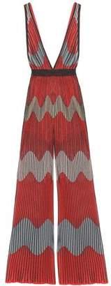 M Missoni Ribbed Metallic Intarsia-knit Jumpsuit