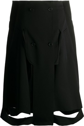 Maison Margiela cut-out A-line skirt