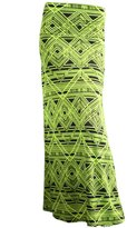 2LUV Women's Multicolored Mix Print Floor Length Maxi Skirt S (ASK-9001PS-F88)