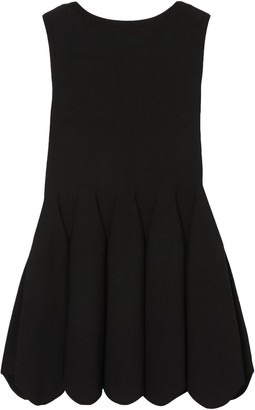 Alaia Scalloped Pleated Stretch-knit Top