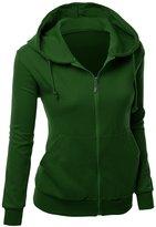 Xpril Women Casual Jersey hooded Jacket GREEN L