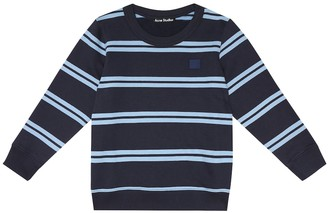Acne Studios Kids Mini Face striped cotton sweatshirt
