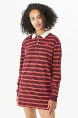 Vans Port Royal Stripe Polo Mini Dress - Assorted XS at Urban Outfitters