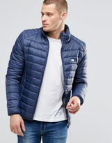 Blend of America Quilted Nylon Jacket in Navy