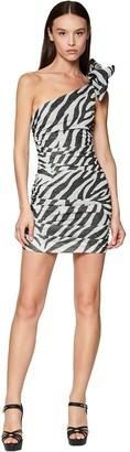 Redemption Zebra Stretch Lurex Mini Dress