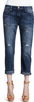 Current/Elliott Boyfriend Loved Destroyed Cuffed Jeans