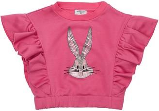 MonnaLisa Bugs Bunny Ruffled Sweatshirt