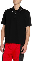 Givenchy Men's Logo Typographic Crop Polo Shirt
