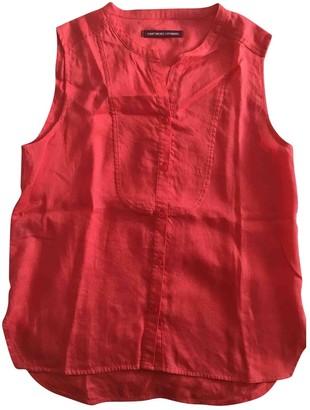 Comptoir des Cotonniers Red Linen Top for Women