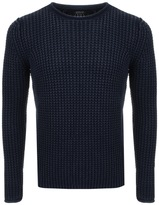 Replay Knitted Jumper Navy