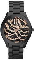 Michael Kors Slim Runway MK3316 Zebra-Pattern Crystal Pave Dial Womens Watch