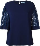 Blumarine lace sleeve T-shirt