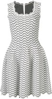 Geometric Patterned Flared Dress