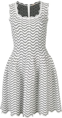 Alaia Pre-Owned geometric patterned flared dress