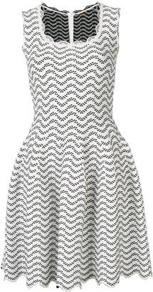 Alaïa Pre-Owned Geometric Patterned Flared Dress