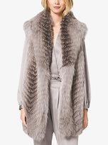 Michael Kors Fox Fur Shawl Vest