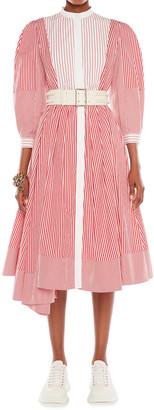 Alexander McQueen Cotton Striped Shirtdress
