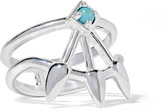 Pamela Love Beam Silver Turquoise Ring - 6