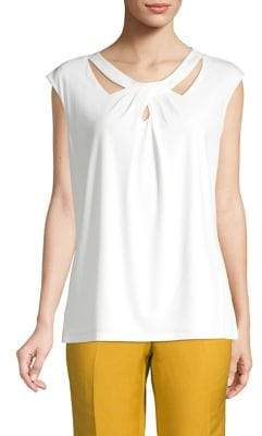 Kasper Crisscross Cut-Out Top