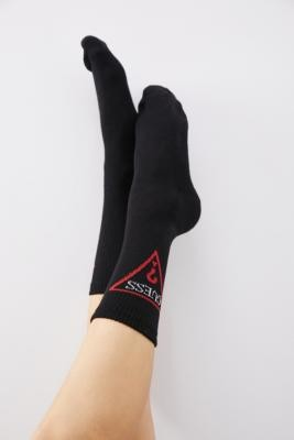 GUESS Triangle Logo Crew Socks - Red ALL at Urban Outfitters